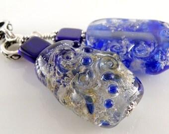 Cremains Loving Pet Memorial Bead - Custom Handmade Lampwork Glass Pendant - You Pick the Colours - SRA