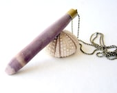 Sea Urchin Necklace - large sea urchin spine, vintage brass end cap, ball chain, summer fashion, nautical fashion, beach Mother's Day