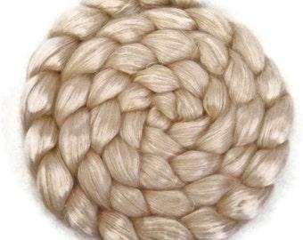 Natural Camel Silk 50/50 Wool Roving - 4 oz. - Spinning Fiber