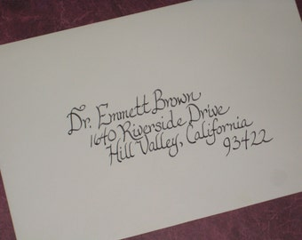Calligraphy for wedding invitations