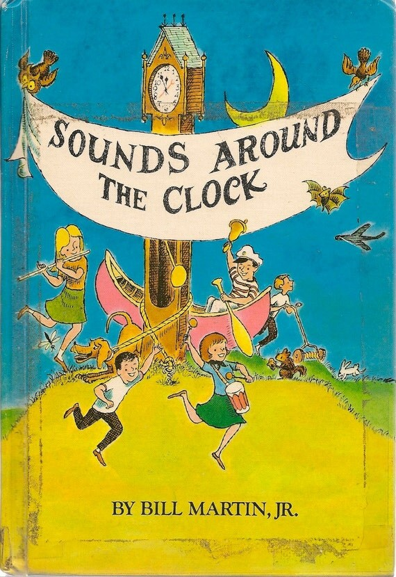 VINTAGE KIDS BOOK Sounds Around the Clock