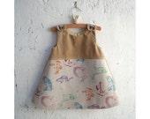 The Vivi Dress - Size 18 Months - Ready to Ship - One of a Kind Dress - Kokka Woodland Dress - Party Dress