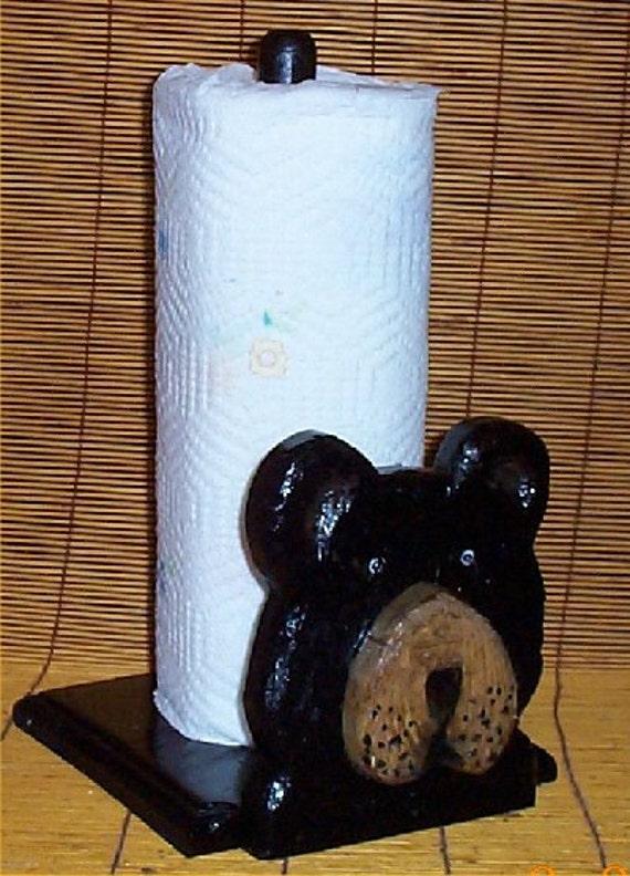 Bear Kitchen Paper Towel Holder Decor