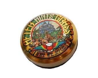 1970s AFTER GRASS TIN Vintage Hippie Mints Container England