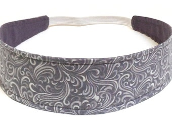 NEW  -  Reversible Fabric  Headband  -  PAMELA -  Headbands for Women