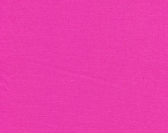 Fuchsia / Designer Solids / Free Spirit / Premium Cotton Apparel  Quilt Fabric  -1 Yard
