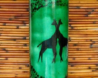 Green Giraffe Vase