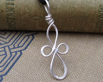 Little Loopy Celtic Cross Silver Pendant, Celtic Cross Necklace, Wire Celtic Cross Jewelry, First Communion, Confirmation Gift, Christian