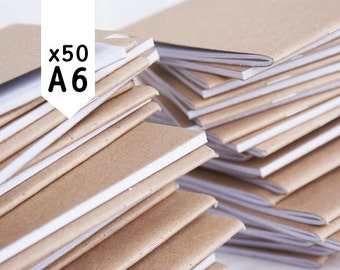 BLANK - pack of 50 - recycled A6 notebooks