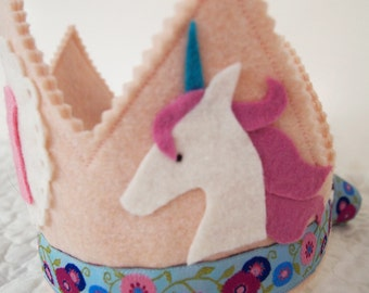 Unicorn Birthday Party - Felt Birthday Crown