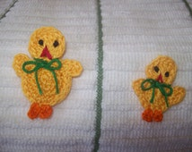 Crocheted Easter, Spring Chick Appliques, Embellishments, Magnets, Earrings or Pins - 3 Sizes and your Color Choice