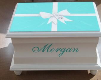 Sweet Sixteen keepsake memory box personalized gift hand painted