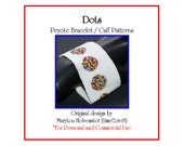Peyote Bracelet Pattern ... DOTS ... Spots . Polka Dots . Bold . Wide . Classic . Chic . Jewelry . Make it Yourself . Cuff . 3 for 2