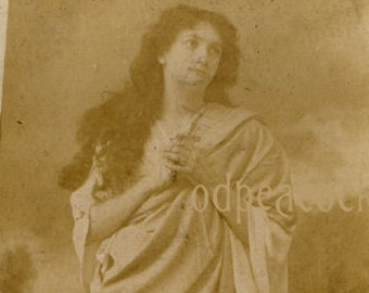Lillah McCarthy theater actress cabinet card Wendt cross signed