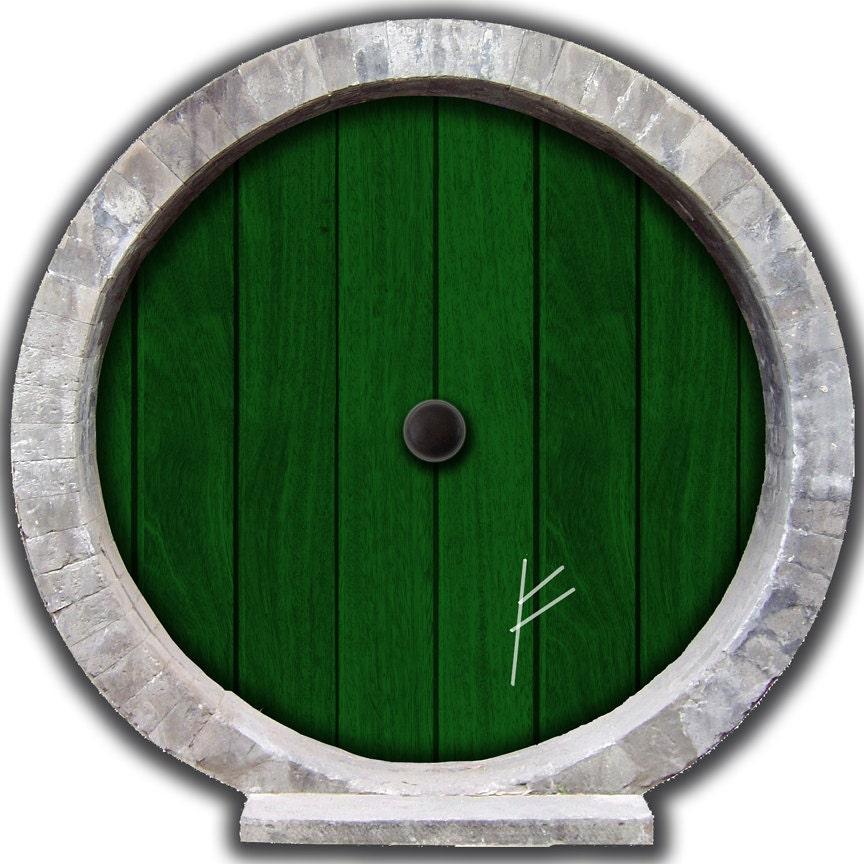 12 x 12 Hobbit Door Wall Decal with Burglar Mark by WilsonGraphics