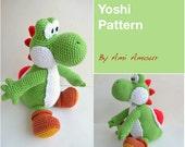 Yoshi Pattern Amigurumi Crochet PDF