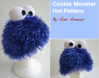 Cookie Monster Hat Pattern Crochet