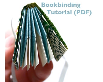 Digital Bookbinding Tutorial (PDF), DIY bookmaking, folded origami book instructions, book making pattern, bookbinding, make a book
