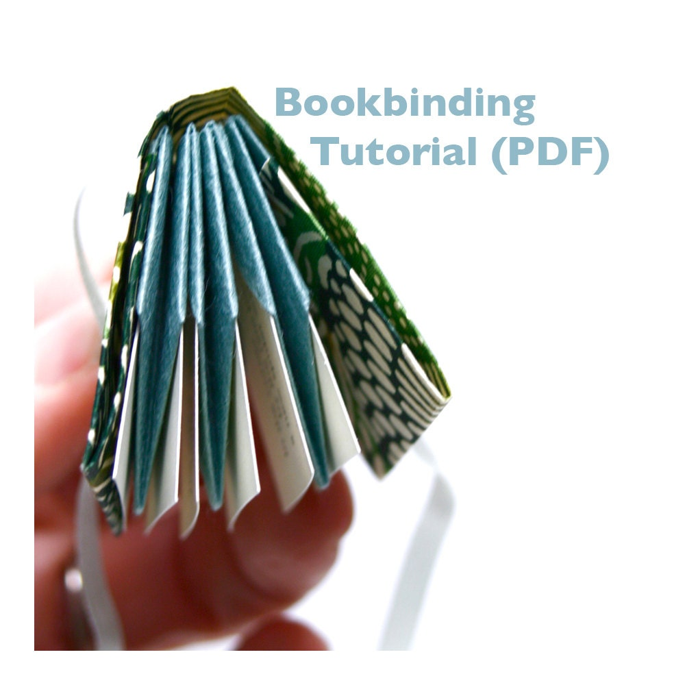 Digital Bookbinding Tutorial PDF DIY Bookmaking Folded