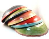 Pasta Bowl Vessel for spaghetti linguini fettucine ravioli manicotti soup salad / personal size fiesta color bowls