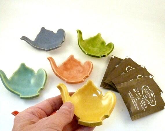 Best Teabag holder, Ring Dish, tea bag holder, teapot jewelry dish, storage  jewelry holder rs earring bowl stocking stuffer spoon rest