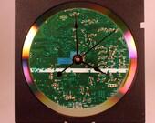 Computer Circuit Board Desk Clock (Dark Green)