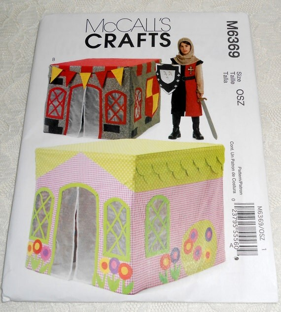 McCall's Pattern for Card Table Playhouse