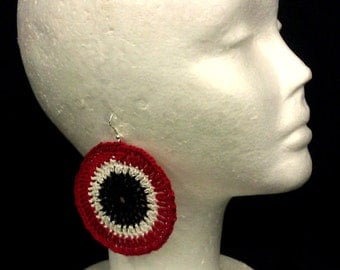 Tri Color ROUNDABOUT Crochet Earrings
