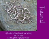INSTANT DOWNLOAD Tutorial How to make 6 styles of Ear wires including Kidney Hooks PDF