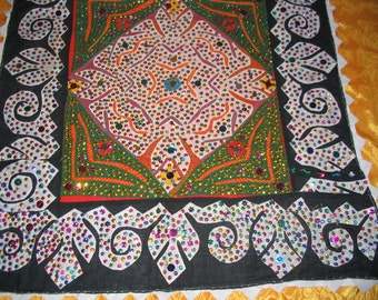 Table Cloth Beaded Golden Artistic Moroccan Style