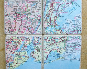 New York City Map Coasters