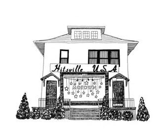 Hitsville USA Motown Museum, Detroit Giclee Print 8x10