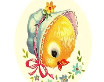 Vintage Baby Duck Cross Stitch Pattern PDF