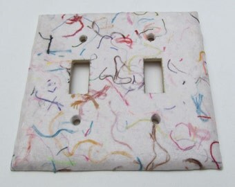 Decorative String Light Switch Plates-Recycled Handmade Paper