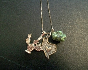 I Love Texas Charm Necklace