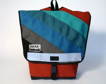 Long Colorful Backpack in Terra Cotta