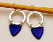Silver and Cobalt Blue Earrings...