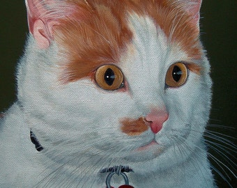 16 x 20 detailed Life Like Pet Portrait Pet painting Commission from Your Photo Dog Cat or Horse Art by Sharon Lamb