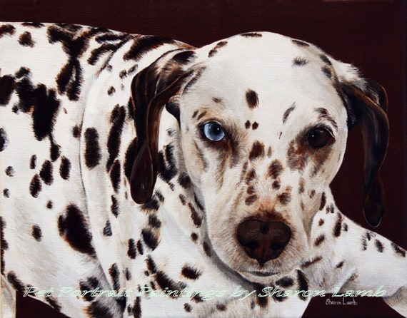 Custom Pet Painting 5x7 Your Dog Cat or Horse Any Animal