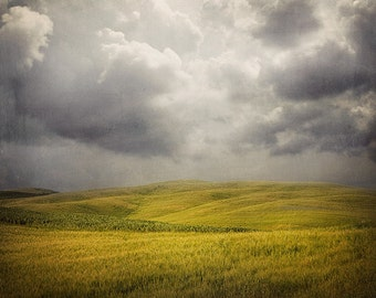 "Gray Storm Clouds, Landscape Photography, Large Wall Art, Fine Art Photography, Rustic Decor, Landscape Print ""Stormy Weather"""