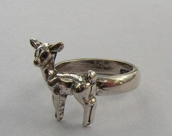 Sterling Silver Deer Ring