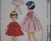 Vintage McCall's 4865 Girls Size 3 1950's Tucked Dress with Attached Petticoat Pattern