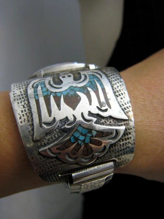 Vintage Thunderbird Sterling Silver Native American By