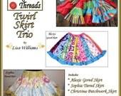INSTANT DOWNLOAD: Bundle Pack - Twirl Skirt Trio - DiY Tutorial PdF eBook Pattern - Sizes 2 to 16