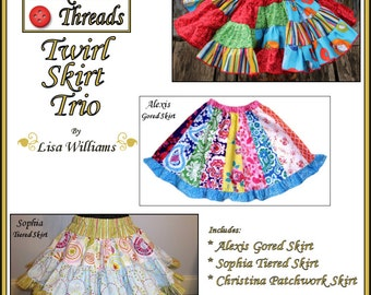 INSTANT DOWNLOAD: Bundle Pack - Twirl Skirt Trio - DiY Tutorial PdF eBook Pattern - Sizes 2 to 16