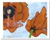 """Poppy Burst 2 --8""""X10"""" Fine Art Print"""