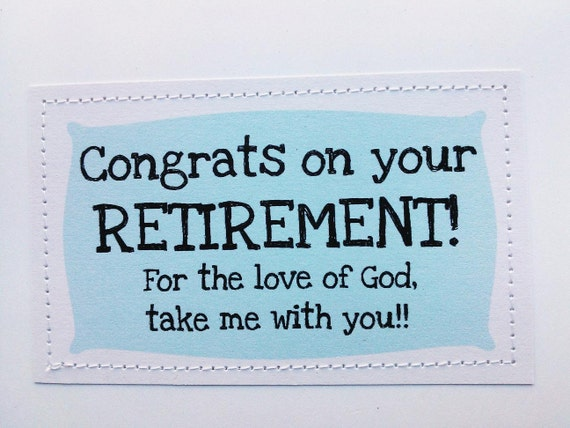 Items similar to Retirement card. Congrats. For the love ...