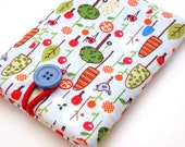 Padded Gadget Case for iPod Touch  or Camera-Trees, Birds and Mushrooms