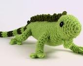 PDF Iguana (lizard) amigurumi CROCHET PATTERN