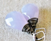 Lavender Faceted Wire-Wrapped Briolettes